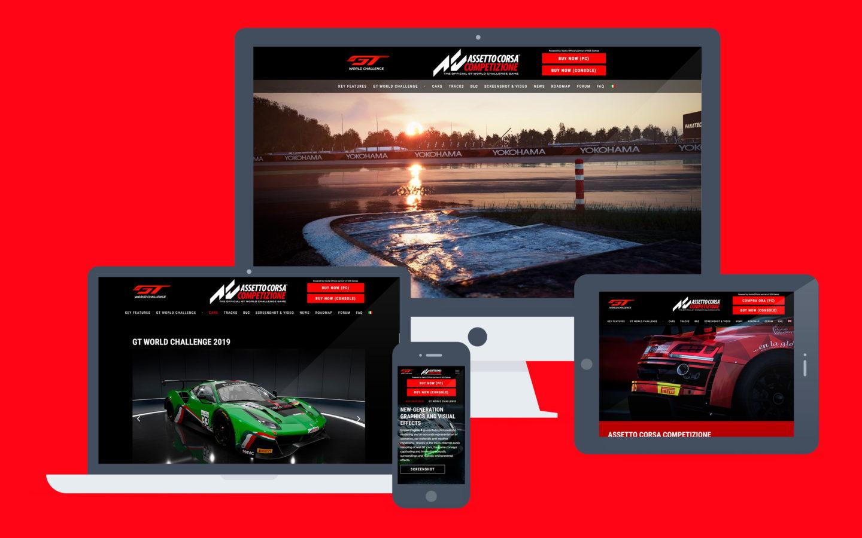 Assetto Corsa Competizione / web site - Fosforica