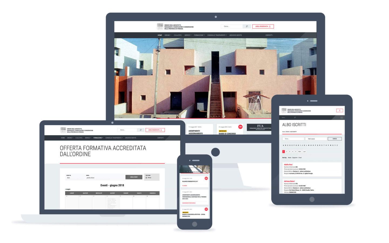 Ordine Architetti Perugia / web site 2018 - Fosforica